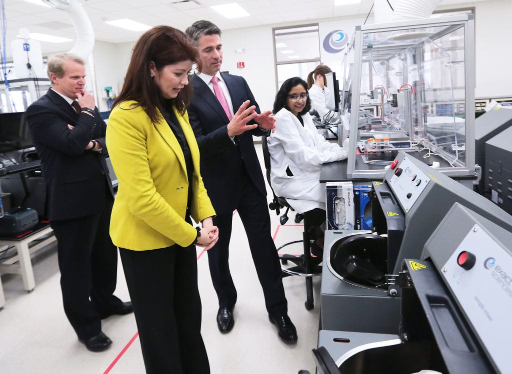 Rebecca Kleefisch tours Exact Sciences